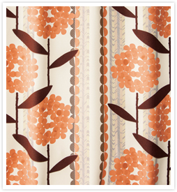 北欧デザインカーテン ウォールフラワーピンク