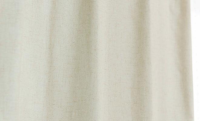 ナチュラル生地にアクリルコーティングを施した1級遮光 遮熱 防音カーテン ドリー