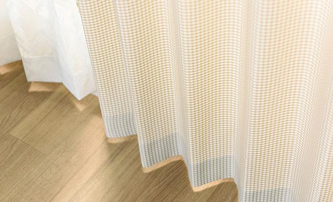細かい格子柄が美しいカーテン チェシー