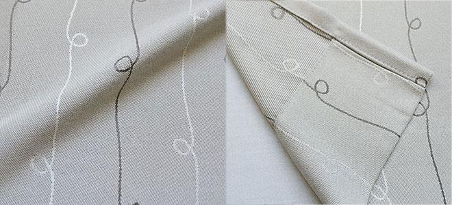 手描きライン風ストライプカーテン ラザー