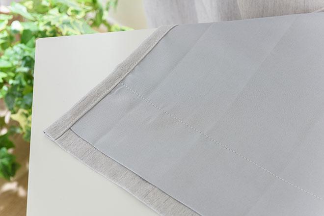 遮光裏地付きナチュラル感のある3級遮光カーテン トップ