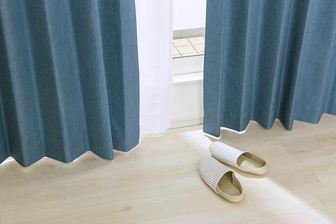 綿のような柔らかな風合いの遮光率100%完全遮光カーテン モニカ