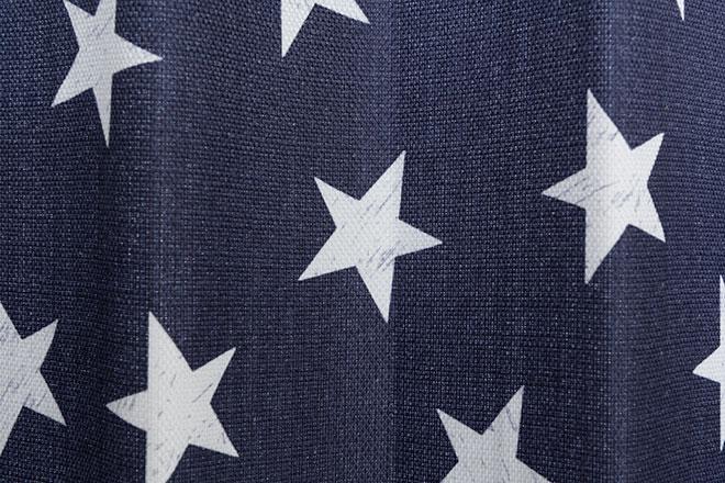 遮光裏地付きビンテージ風星柄2・3級遮光カーテン シリウス