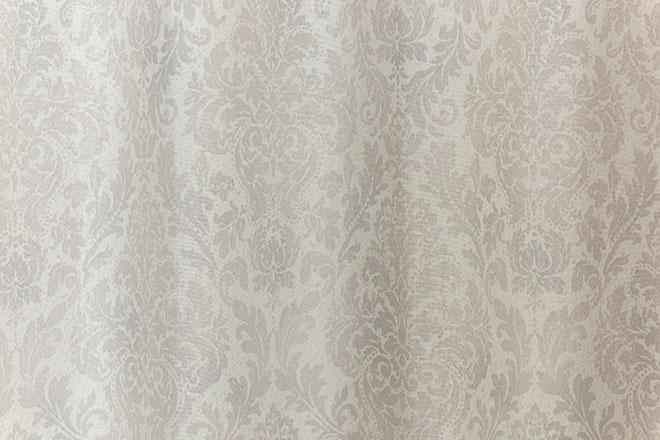 上品なダマスクローズ柄遮光率100%完全1級遮光カーテン ジーク