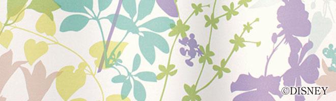 ディズニー・ミッキーマウス 2級遮光カーテン カーニバル 生地アップ1