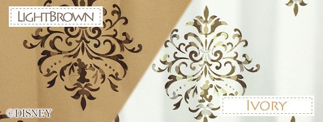 ディズニー・ミッキーマウス 1級・2級遮光カーテン クレスト