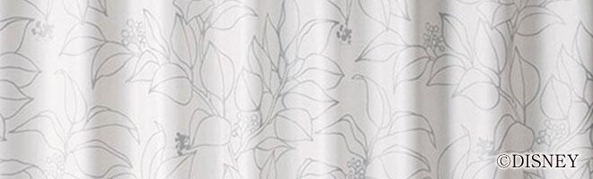 ディズニー・ミッキーマウス 2級遮光カーテン スリップリーフ 生地アップ1