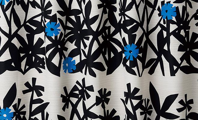 クチナシの花をイメージした2級遮光カーテン ハスミン