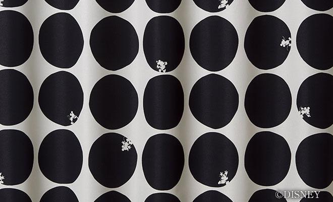 ディズニーカーテン・ミッキーマウス<br>2級遮光カーテン スコープ[ミッキー]