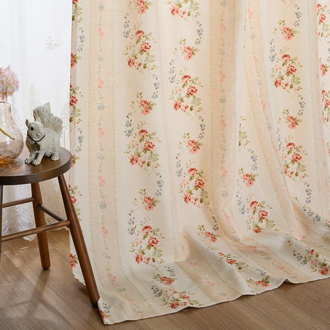 華やかな小花柄がかわいいプリントカーテン ロージー