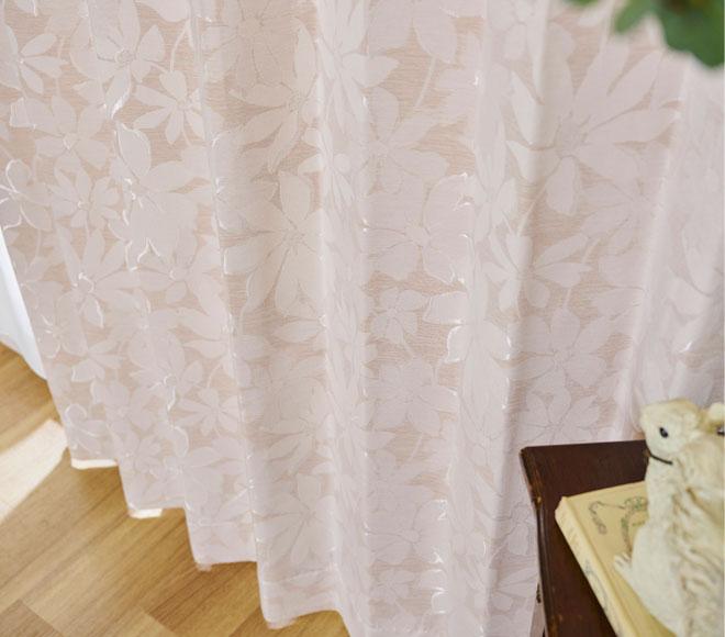 裏地付き3級遮光カーテン パラメ ピンク