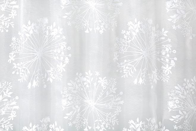 オパールプリントの透け感のあるレースカーテン フロリレース