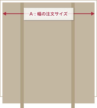 幅の注文サイズ(A)